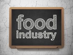 Industry concept: Food Industry on chalkboard background - stock illustration