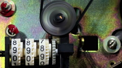 Mechanical Counter Reel To Reel Tape Stock Footage