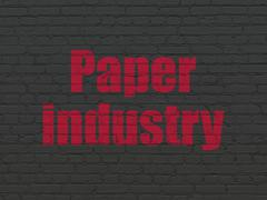 Industry concept: Paper Industry on wall background - stock illustration