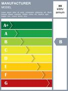 Energy efficiency rating table Stock Illustration