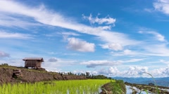 Cloud moving over the rice fields. Stock Footage
