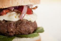 Yummy hamburger Stock Photos