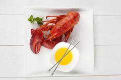 Yummy lobster dish Stock Photos