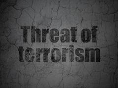 Political concept: Threat Of Terrorism on grunge wall background Stock Illustration