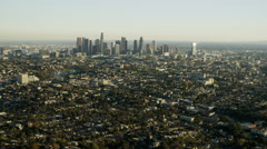 Aerial view Los Angeles cityscape California USA Stock Footage