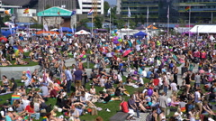 Thousands of people on the big Picnic during the Helsinki Pride. Time Lapse. Stock Footage
