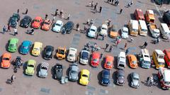 LEEUWARDEN, THE NETHERLANDS - MAY 28, 2016; Volkswagen Beetle Club gathering  - stock photo