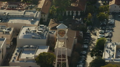 Aerial view of famous Warner Bros film studios in Hollywood California Stock Footage