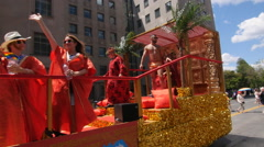 Queer, Arab and Proud float at 2016 Pride Parade, Toronto, Canada. - stock footage