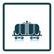 Oil railway tank icon Stock Illustration