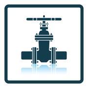 Pipe valve icon Stock Illustration