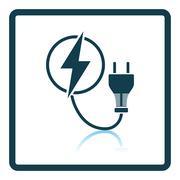 Electric plug icon - stock illustration