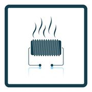 Electrical heater icon Stock Illustration