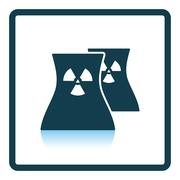 Nuclear station icon Stock Illustration