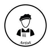 Artist icon - stock illustration