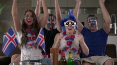 Iceland cheers and clapping Stock Footage
