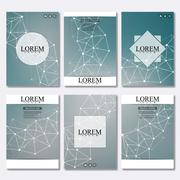 Vector brochure template, flyer, cover magazine in A4 size. Structure molecule Stock Illustration