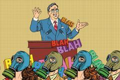 Retro political candidate, electoral hygiene Stock Illustration
