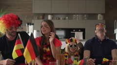 German soccer fans very sad Stock Footage