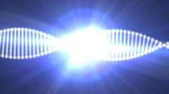 Animated DNA on background of a bright star Stock Footage