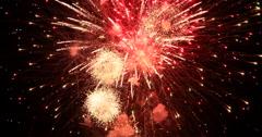 Celebration fireworks holiday 4th July DCI 4K Stock Footage