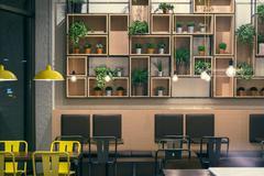 Cafe Interior Room Design Stock Photos