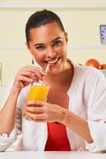 smoothie fruit drink health delicious sip weight loss diet orange - stock photo