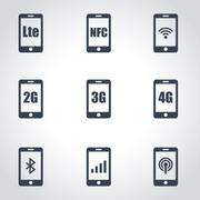 3G, 4G and LTE technology Stock Illustration