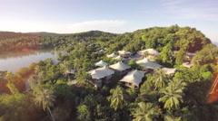 Flying over luxury resort on tropical island -  Ko Kut Island - Thailand Arkistovideo