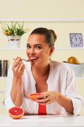 fruit grape eating snack health healthy diet lunch weight loss - stock photo