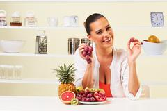 fruit grape eating snack health healthy diet,weight loss grapefruit - stock photo