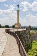 Belgrade fortress and victor monument - stock photo