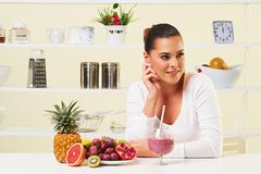 smoothie fruit drink health delicious sip weight loss diet - stock photo