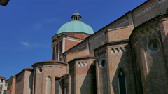 Vicenza - Side and dome of the Santa Maria Annunciata cathedral - stock footage