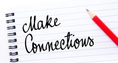 Make Connections written on notebook page Stock Photos