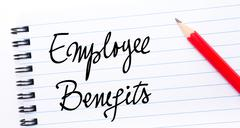 Employee Benefits written on notebook page Stock Photos