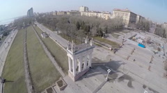 Stairs and Colonnade on the Embankment in Volgograd, Russia Stock Footage