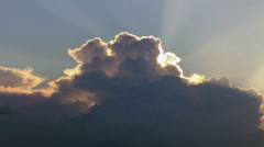 Clouds border in sunlight - stock footage