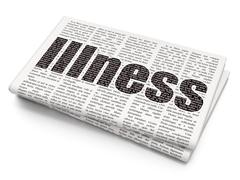 Healthcare concept: Illness on Newspaper background - stock illustration