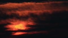 Dark horizon sunrise - stock footage