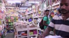 General Store in Singapore's Little India Stock Footage
