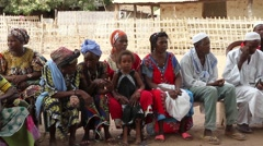 Africa native village meeting about sanitation and potable water Stock Footage
