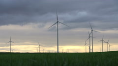 Wind Turbins On Summer Stock Footage