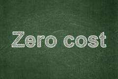 Finance concept: Zero cost on chalkboard background - stock illustration
