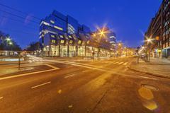 Belgrade street at night Kuvituskuvat