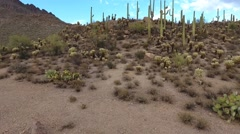 Aerial lift shot of a desert landscape Stock Footage