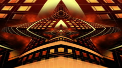 Alien chapel infinite zoom trippy abstract artistic Stock Footage