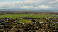 Aerial view of Glenn County in Northern California Stock Footage