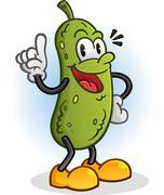 Pickle Retro Styled Cartoon Character - stock illustration