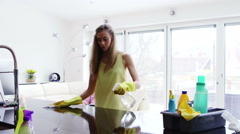 Spring Cleaning Stock Footage